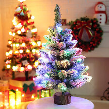 Artificial Flocking Snow Christmas Tree LED Multicolor Lights Holiday Decoration