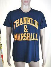 T-Shirt Maglietta Uomo FRANKLIN & MARSHALL Made in Italy H514 Blu Tg XL