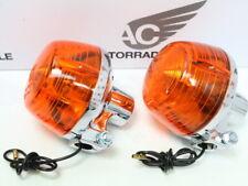 Honda ST 50, XL 50, CY 50 80 Blinker Set 2 x Blinklicht US Repro Chrom winker