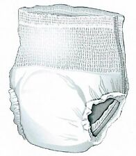 96 2XL Adult Pull-On Disposable Briefs Undergarments Incontinence Cloth-Like XXL