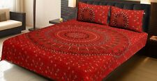 Bed Spread Elephant Printed 100%Cotton Bed Sheet  With Two Pillow Cover