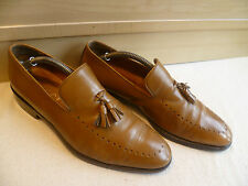 Gucci full leather wholecut tassel loafer UK 7.5 41.5 pointed toe slip-on *Wide