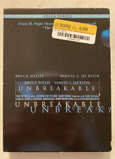 Unbreakable with Bruce Willis Samuel L Jackson Dvd