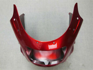 Fit For Kawasaki ZZR1100 D 1993-2001 ABS Red Upper Front Fairing Nose Cowl 94 95