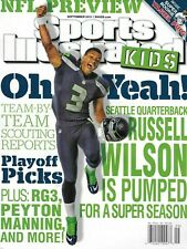 Sports Illustrated Kids Magazine Russell Wilson NFL Preview Yasiel Puig 2013 .
