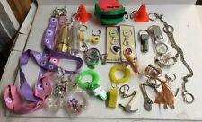 100pc Key Chain Assortment New Flashlight Whistle Novelty belt chain clip