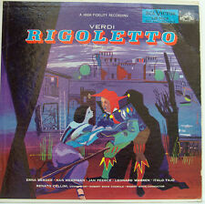 "VERDI RIGOLETTO BERGER MERRIMAN PEERCE WARREN TAJO RENATO CELLINI 12"" LP (d120)"