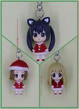K-ON Japanese Anime Key Ring Chain 4cm Figures 3-pcs set