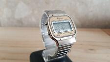 rare 80's Vintage digital LCD Gents wristwatch INGERSOLL Melody alarm chrono