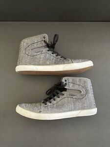 Van's Hadley Women's Gray High Top Skate Shoes Size 7.5