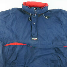 VTG 90s CHAPS Ralph Lauren Jacket Navy Blue Mens Hooded Insulated Medium
