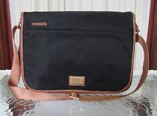 Calvin Klein Messenger Bag Briefcase Black Nylon Shoulder Bag Purse NWT
