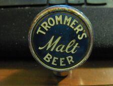 VINTAGE TROMMER'S MALT BEER - BRWING CO BALL TAP KNOB / HANDLE BROOKLYN NY NJ