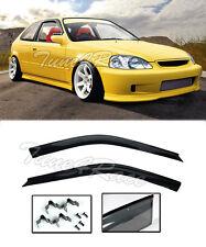 For 96-00 Civic EK Hatch 3Dr Rain Guard Shield (CLIP ON) Window Visors JDM Style