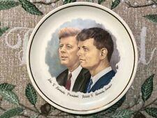 "President John F Kennedy & Robert F Kennedy Commemorative Plate 7 1/4"""