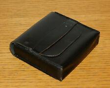 vintage HOUSSE carrée bag BOX etui ALU CUIR leder LEATHER Ledertasche CASE black