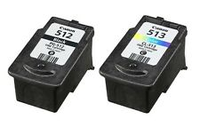 Refilled Ink Cartridges for 2x Canon PG 512 Black CL 513 Color for PIXMA MP240