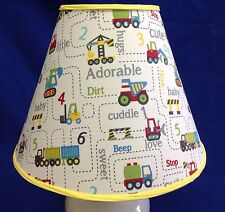 Construction Equipment Nursery Lamp Shade Handmade Lampshade