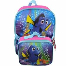 """New Disney Pixar Finding Dory 16"""" School  backpack with lunch bag"""