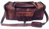 Weekender Vintage Men's Bag Leather Duffel Travel Luggage Gym Genuine Overnight