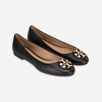 NEW Tory Burch TORY BURCH Claire Ballerina Flat Black -Size 8