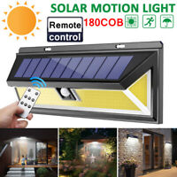 180COB LED Remote control Solar Wall Lamp Outdoor Light Garden Motion Sensor