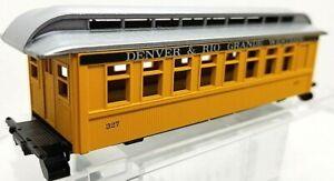 HO Roundhouse 3707 34' Overton D&RGW Passenger Coach Kit Silverton Scheme NIB