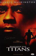 Herman Coach Boone Autographed 11x17 Remember The Titans Movie Poster- JSA W Aut