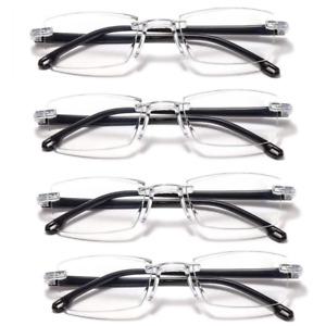 4 Packs Mens Womens Unisex Reading Glasses Frameless 1.5 2.0 2.5 3.0 3.5 4.0 UK