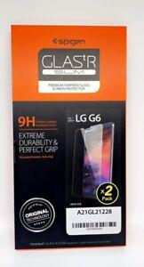 [2PC Pack] Genuine Spigen GLAStR Tempered Glass Screen Protector  for LG G6