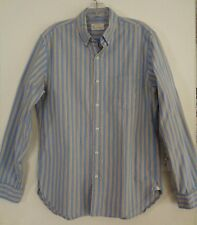 JCrew Vintage Oxford Distressed Shirt Size M Long Sleeve Blue Stripe