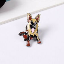 ALSATIAN DOG COLLAR PIN BADGE LAPEL GERMAN SHEPHERD HUND BROOCH ENAMEL CANINE AR