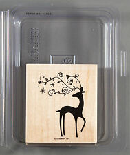 DASHER Rubber Stamp by Stampin' Up! - Santa's Reindeer, Swirly Antlers