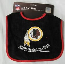 NFL NWT INFANT BABY BIB-BLACK- WASHINGTON REDSKINS- RED TRIM