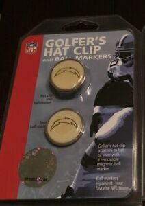 """NEW NFL """"SAN DIEGO CHARGERS"""" HAT CLIP & BALL MARKER FAN LOGO - MCARTHUR SPORTS"""