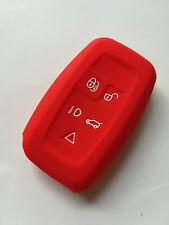 Red Remote Key Cover Holder for LAND ROVER LR4 Range Rover Range Rover Sport