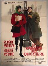 MANIFESTO 4F LA RAGAZZA DEL QUARTIERE ROBERT MITCHUM SHIRLEY MACLAINE WISE RARO