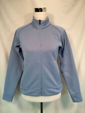Salomon Fleece Lined Jacket Womens S Light Blue Zip Front Pockets Mock Collar