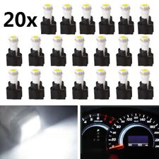 20x White T5 PC74 Twist Socket 37 70 Instrument Cluster Dash Led Light Bulb Kit