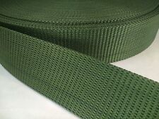 12 feet of 2 1/4 military type web belt heavy nylon webbing green