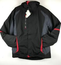 NORTH END Men's Black/Red WARM LOGIK Thermal Water Resistant Jacket/ Coat Size M