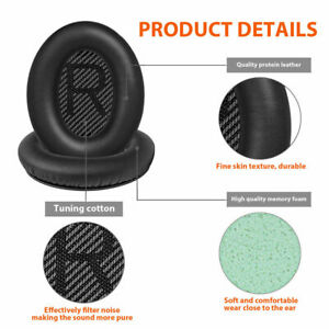 Replacement Ear Pads Cushion Cover for QuietComfort QC35 QC35II Bose Headphones