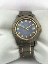 """Citizen Men""""s Slim Line Quartz Titanium Calendar 2510-H21670 bracelet watch"""
