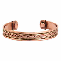 Copper Adjustable Bracelet Cuff Wristlet Wrist Band Luck - Men Women Strong
