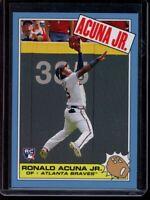 2018 Topps Throwback Thursday Ronald Acuna Jr. RC Card #248 Rookie SP