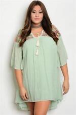NEW..Stylish Plus Size Boho Kaftan Style Dress with Embroider Detail.SZ20/2XL