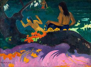 Paul Gauguin - Fatata te Miti (By the Sea) 1892, Museum Art Poster, Canvas Print