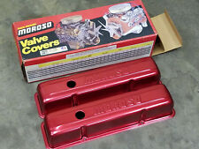 Moroso Stamped Aluminum Valve Covers 68006 Chevy SBC 283 305 350 400