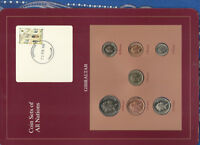 Coin Sets of All Nations Gibraltar 1988-1995 UNC £1 1995 50,20 Pence 1988