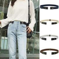 Unisex Elastic Belt Buckle-Free Invisible Adjustable D Waist Belt-Waistband W1L3